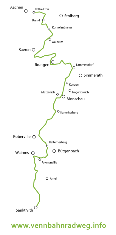 Karte Vennbahnradweg